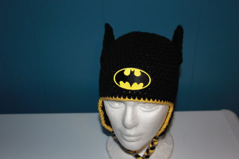 Crochet Batman Hat - Crochet Superhero Hat - Halloween Hat - Costume - Bat Man -  Child Batman Hat