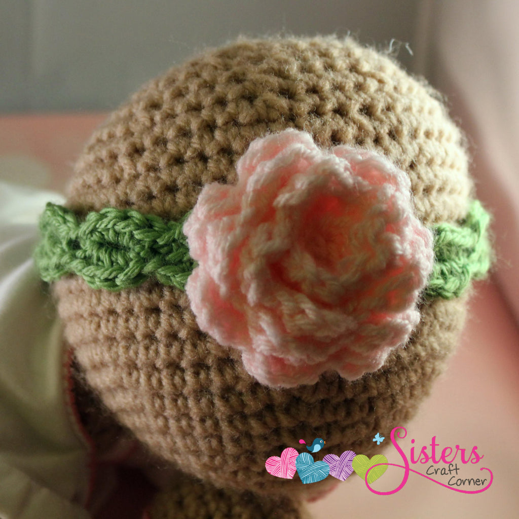 Crochet Baby Headband - Newborn Rose Headband - Flower Headband - Crochet Headband - Baby Girl Headband - Newborn Photo Prop