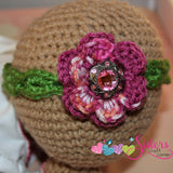 Crochet Baby Headband - Baby Girl Headband - Newborn Flower Headband - Newborn Headband - Newborn Photo Prop - Girl Baby Shower Gift