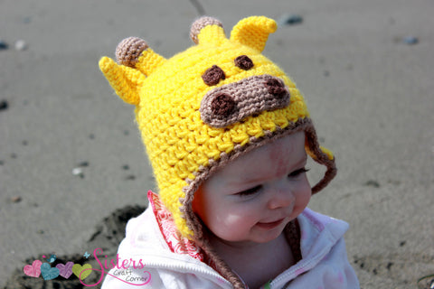 Crochet Giraffe Hat - Animal Hat - Giraffe Costume Hat - Zoo Animal Hat - African Safari Animal