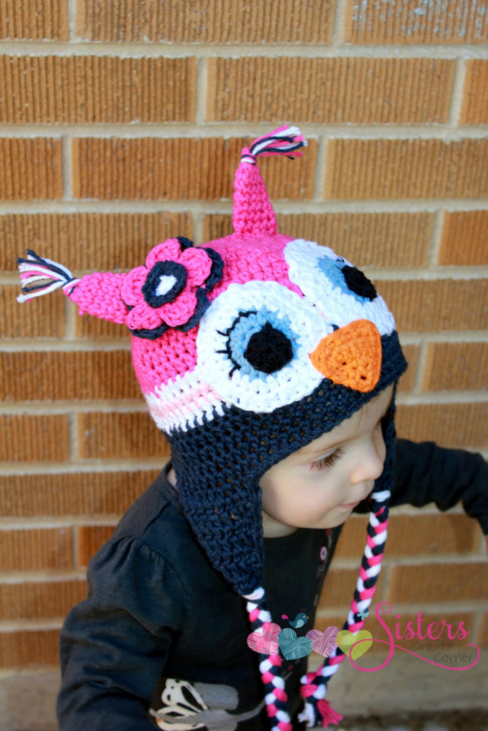 Crochet Owl Hat - Baby Owl Hat - Newborn Photo Prop - Newborn Owl Hat –  Sisters Craft Corner b4a918644cd1
