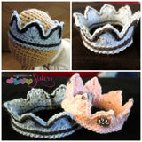 Crochet Princess Crown - Crochet Tiara - Newborn Crown - Princess - Photo Prop - Baby Girl Crown