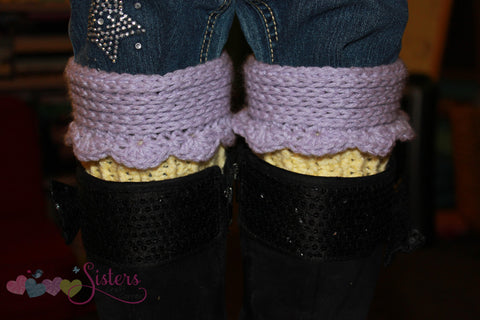 Crochet Boot Cuffs- Cupcake Boot Cuffs - Custom Boot Cuffs - Girl Boot Cuffs - Bootcuff - Cup Cake Boot Cuffs - Crochet Boot Accessories