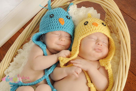 Crochet Baby Bird Hat - Baby Chick hat - Unisex Baby Shower Gift - Newborn Photo Prop