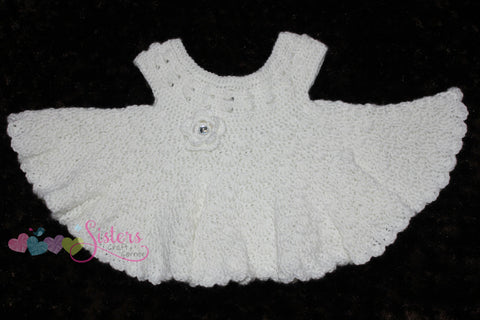 Crochet Baby Dress - Baby Girl Dress - Special Occasion Dress - Christening Gown - Baby Shower Gift