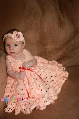 Crochet Dress - Crochet Baby dress - Crochet Newborn Dress - Crochet Infant Dress - Custom Newborn Photo Outfit - Custom Baby Baptism Dress