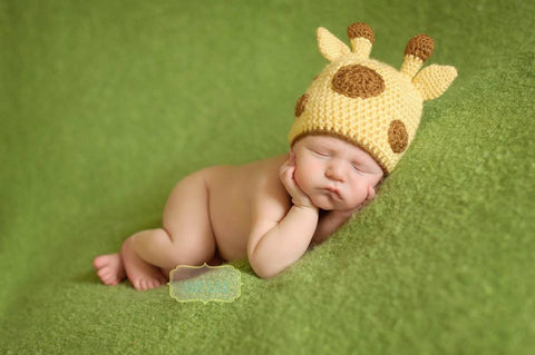 Baby Giraffe Hat - Crochet Giraffe Hat - Animal Hat - Zoo Animal Hat - Newborn Photo Prop - African Safari Animal - Newborn Hat - Baby Hat