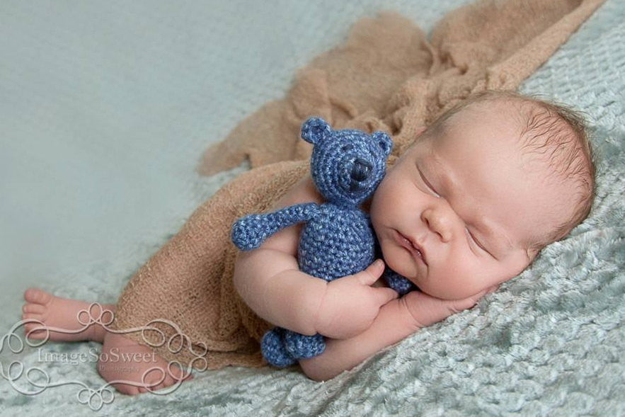 Crochet Bear - Crochet Teddy Bear - Baby Bear - Newborn Photos - Photo Prop - Boy Baby Shower Gift - Crochet Stuffed Animal - Handmade Bear