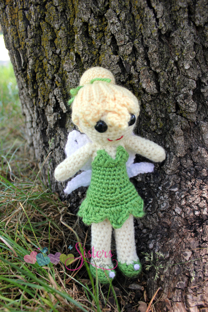 Crochet Fairy Doll - Tinkerbell - Tinker Fairy - Handmade Amigurumi - Peter Pan - Pixie - Crocheted