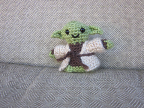 Yoda Crochet Doll - Jedi Master Amigurumi - Newborn Photo Prop - Crochet Yoda - Yoda Plush Toy - Crochet Figure - crochet Yoda Doll Figurine