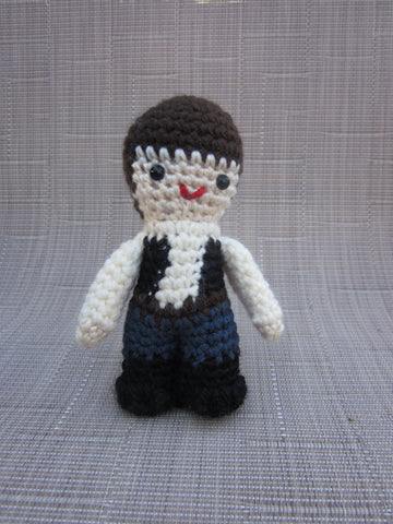 Han Solo Crochet Doll - Amigurumi - Newborn Photo Prop - Crochet Han Solo - Plush Toy - Crochet Figure - crochet Doll Figurine