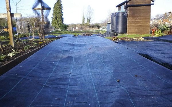 GroundTex Heavy Duty Ground Cover Membrane Covering Asparagus Beds
