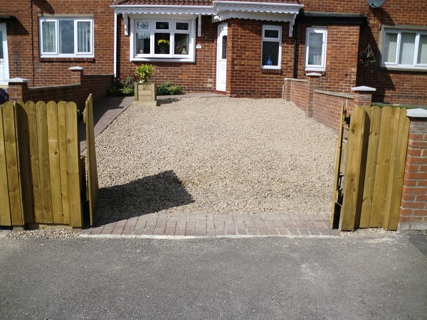GroundTex Heavy Duty Ground Cover Membrane Used Under Gravel On Driveway