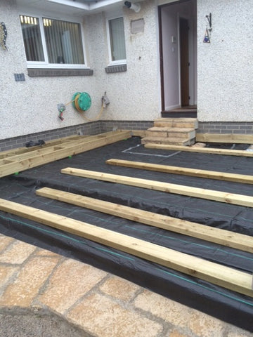 GroundTex Heavy Duty Weed Control Fabric Used Under Decking