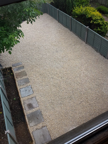 GroundTex Heavy Duty Ground Cover Fabric Used Under Gravel Driveway