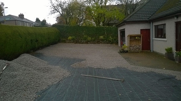 Excellent Choice for Driveway's - GroundTex Heavy Duty Weed Membrane 100gsm - pic2