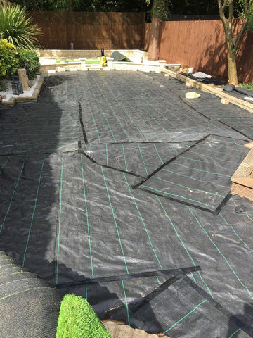 GroundTex Heavy Duty Ground Cover Membrane Used Under Artificial Grass / Astro Turf