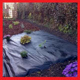 2m x 25m Weed Control Fabric / Garden Membrane 50g