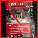 1m x 100m Weed Control Fabric / Garden Membrane 50g