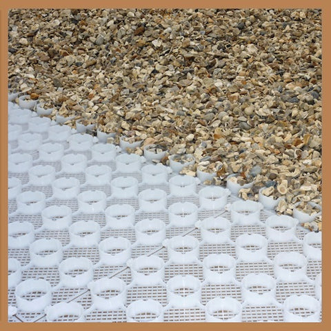 Gravel Ground Reinforcement Grid Panel Tile System White - pic1