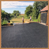 Gravel Ground Reinforcement Grid Panel Tile System Black - pic4