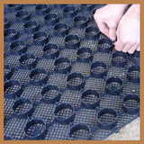 Gravel Ground Reinforcement Grid Panel Tile System Black - pic3