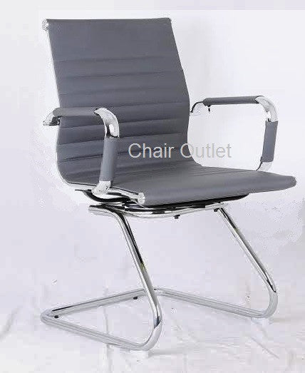 Grey Designer Office Chair On Cantilever Leg Chair Outlet
