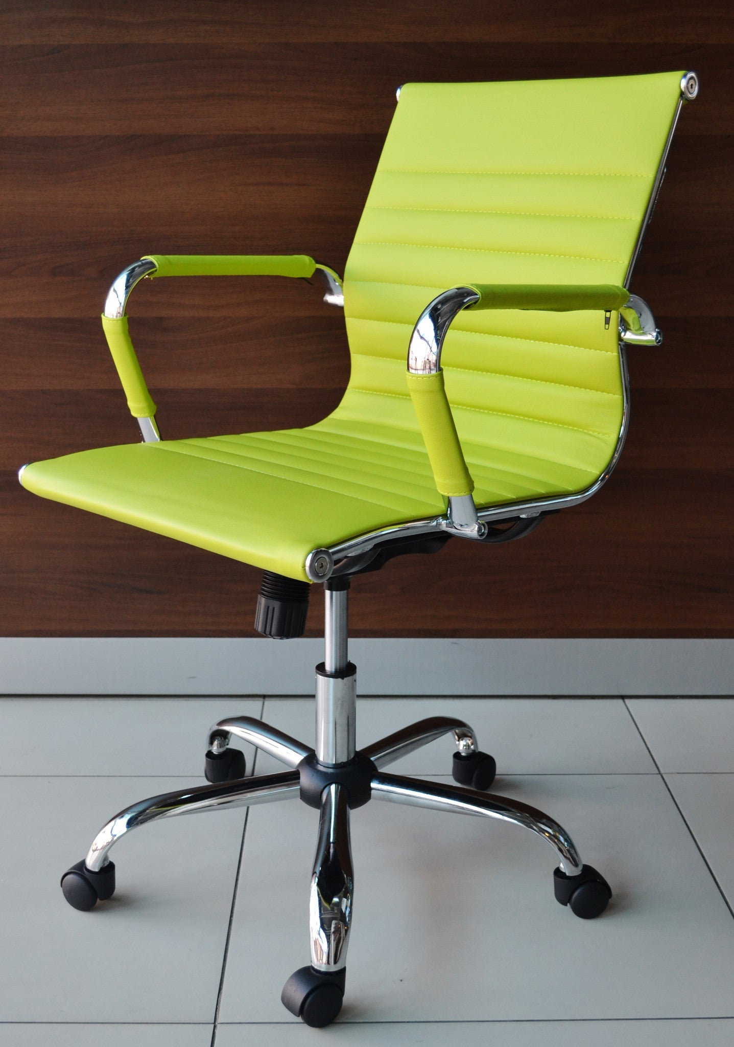 new products 6270d a1b25 Lime Green Designer Office Chair