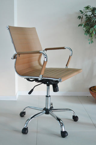 Tan / Brown Designer Office Chair