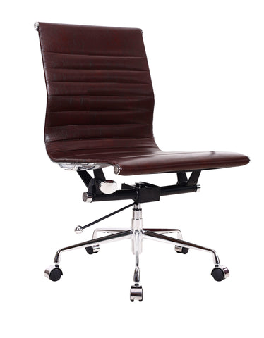 Brown Designer Computer Desk Contemporary Reception Meeting Office Chair