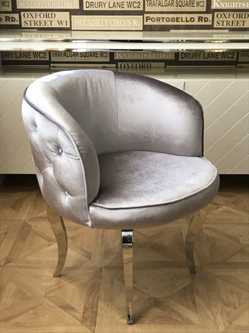 Silver Luxury Glamour Armchair