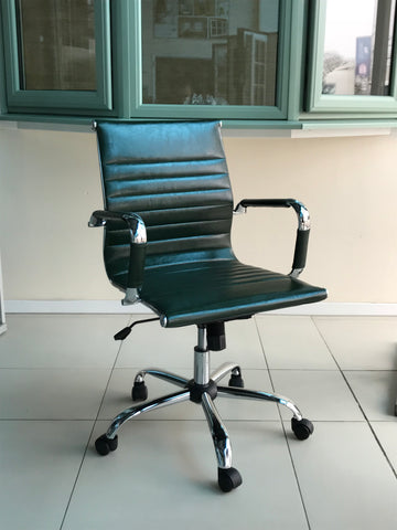 Retro Green Designer Office Chair