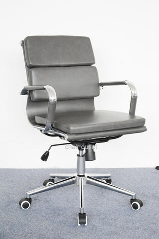 Grey Eames Style Soft Pad Office Chair