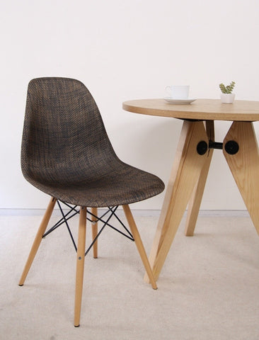 Brown weave top Dining Chair