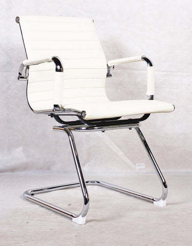 White Office Chair on Cantilever Leg