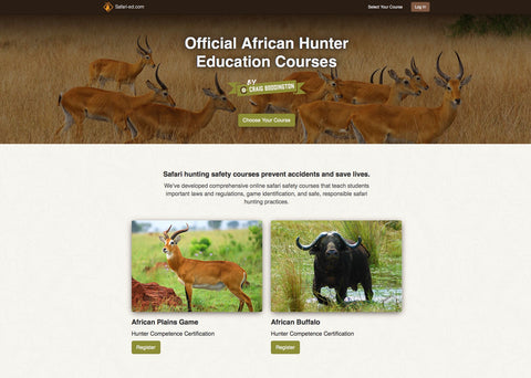 Safari Hunters Education Courses by Craig Boddington-30% Discount Code safarieducation2018 enter when registration