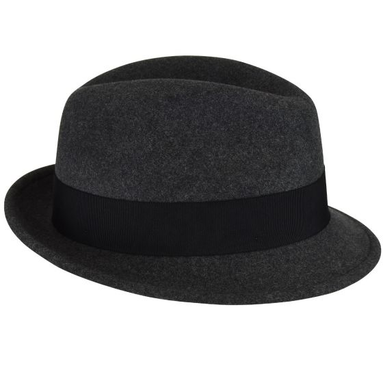 Men's Bailey Of Hollywood Litefelt Wool Center Dent Tino 7001 Fedora Black Mix