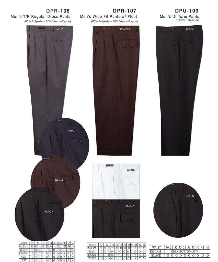Daniel Ellissa  Wide Leg Dress Pants DPR 107