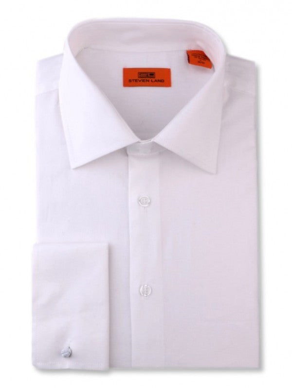 Steven Land 100% Cotton White Dress Shirt DS115F