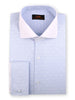 DRESS SHIRT | DW1839 | CLASSIC FIT | 100% COTTON | FRENCH CUFF | WIDE SPREAD COLLAR | BLUE