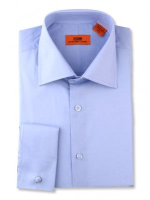Steven Land 100% Cotton Lt Blue Dress Shirt DS115F