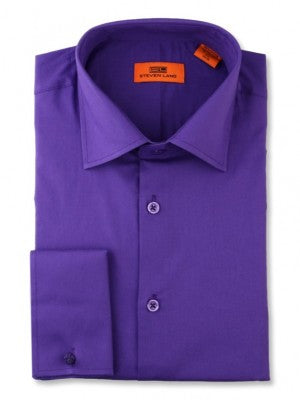 Steven Land 100% Cotton Purple Dress Shirt DS115F