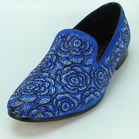 Fiesso Men's Loafers With Rhinestones FI 7098