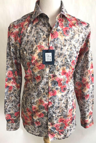 Lanzzino Floral Print Long Sleeves Party Casual Shirt