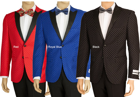 Men's Slim fit Polka Dot Blazer SZ62PD