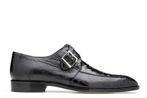Belvedere Josh, Ostrich Single Buckle Dress Shoe, Style: 114011