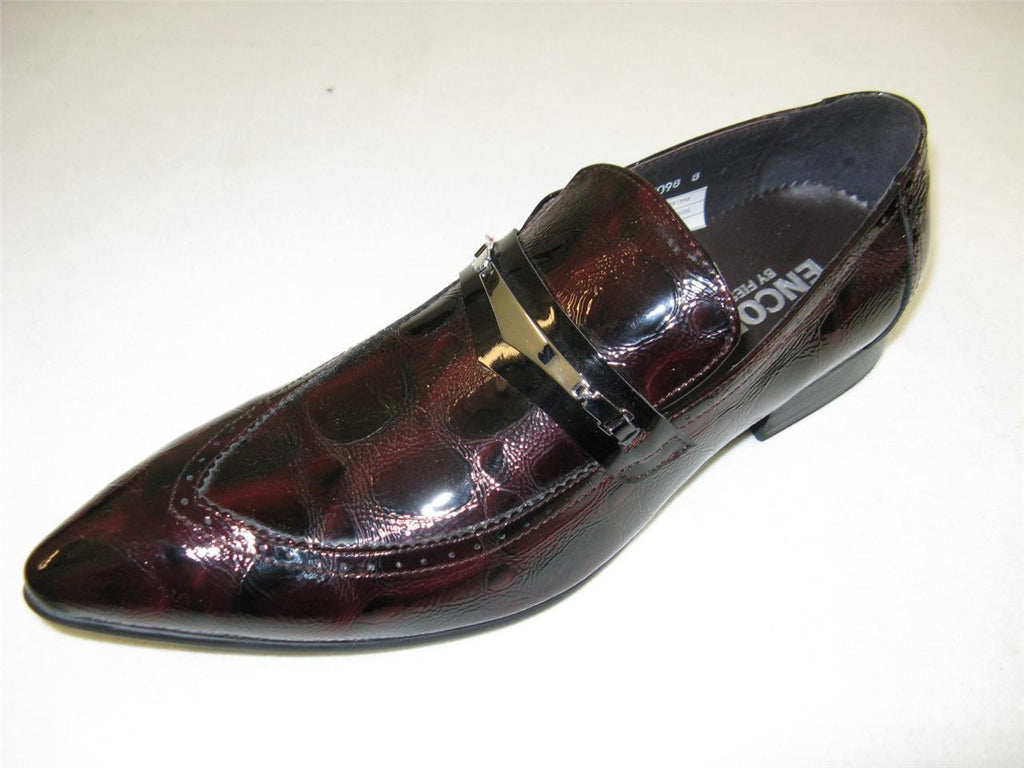 New Encore Burgundy Print Shoes FI 3098