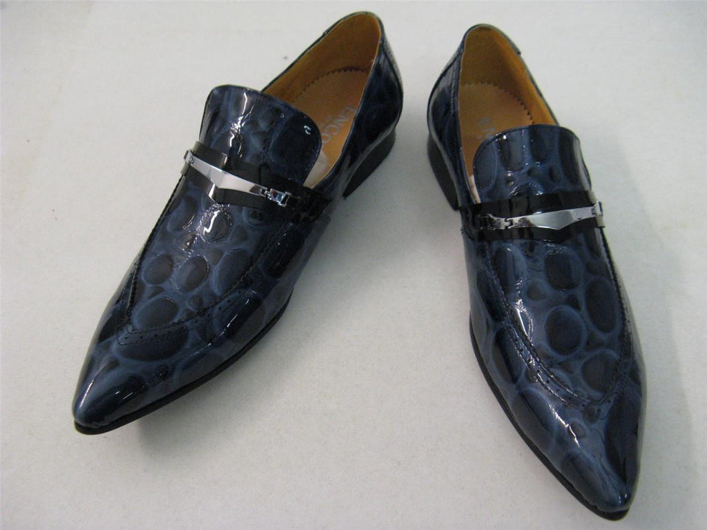 New Encore Fiesso Blue Print Shoes FI 3098