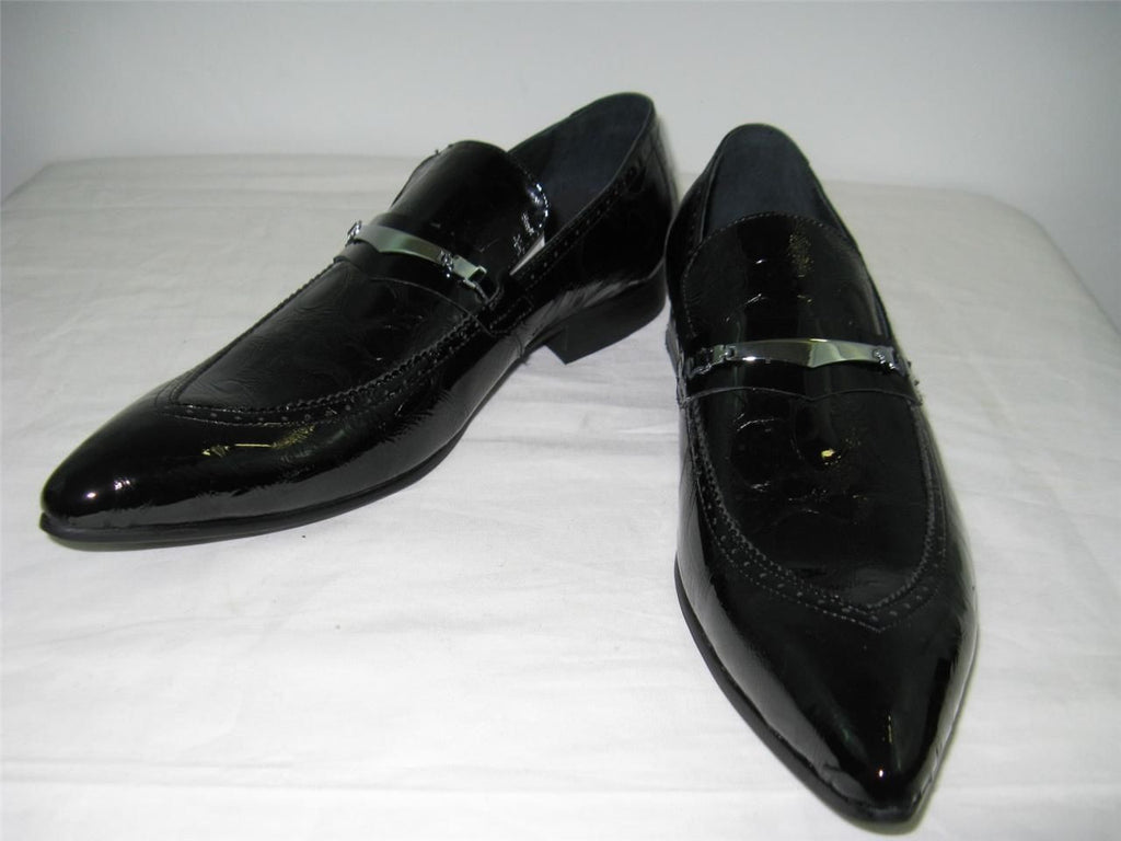 New Encore Fiesso Black Shoes FI 3098