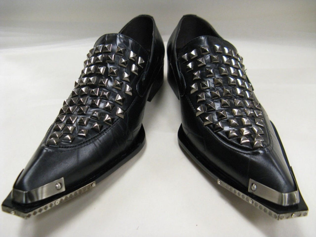 New Black Men's Fiesso Leather Slipon Shoes FI 6602